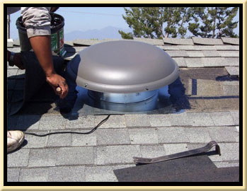Orange County Solar Fan Roof Ventilation Installation Contractor